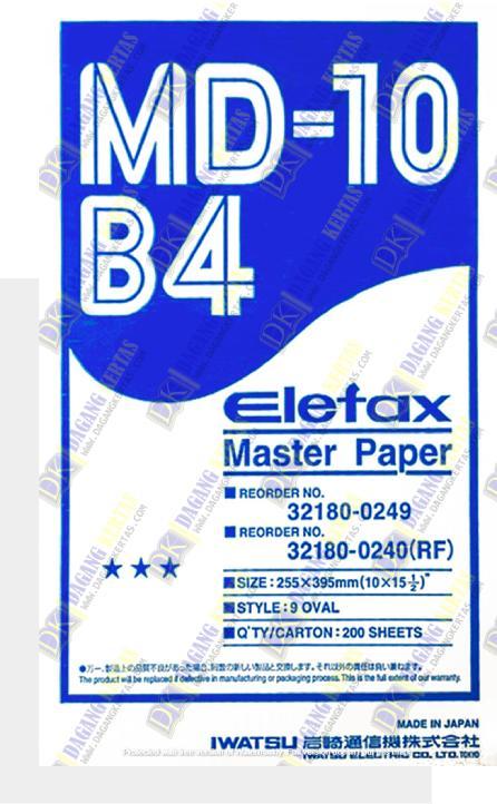 kertas master paper ELEFAX MD-10